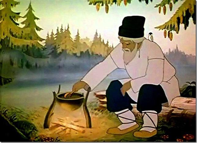 мультфильм пушкин сказка о рыбаке и рыбке